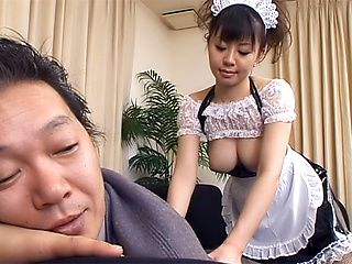 Milf with big tits Ai Takeuchi gives some sex services to her boss