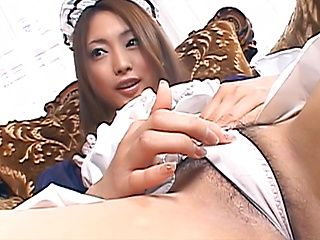Airi Hanabusa, amazing maid, fucking in raw hardcore
