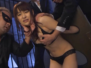 Naughty Asian milf Yukiko Suo gets hot fuck in group sex session