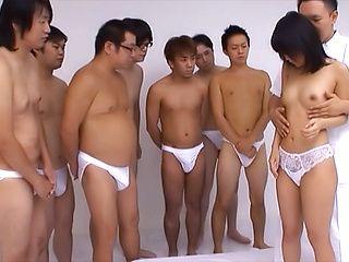 Serious gangbang for peachy tits Nana Nanaumi