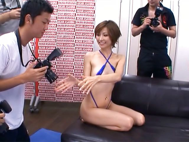 Amazing Asian with tight ass and enhanced tits Akari Asahina gives a ride
