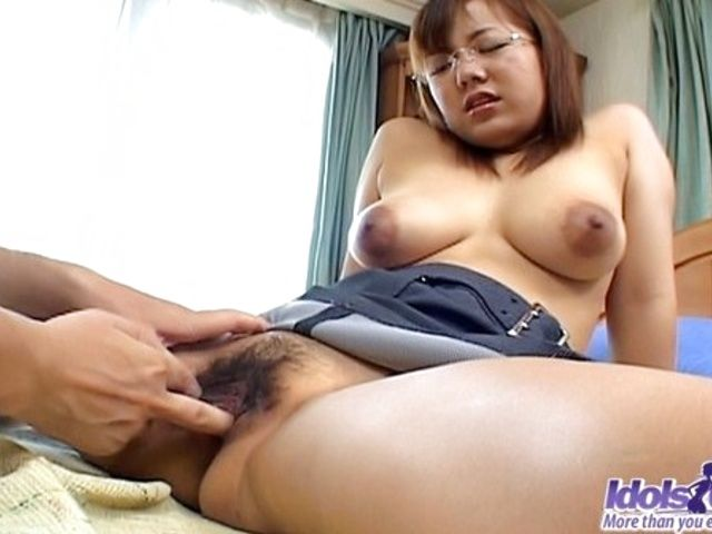 Hot Japanese AV Model Gets Her Very Hairy Pussy