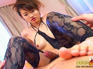 Japanese Amateur Asuka Footjob & Sex Whorish Pussy Loves Getting Fcked