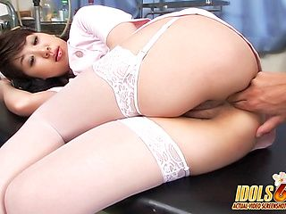 Japanese Rena Morikawa Loves Garter Belts