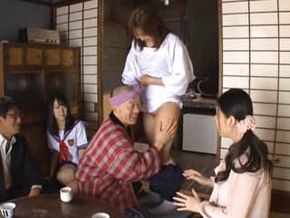 Sexy Asian milf Sophia Takigawa is in a public place for sex