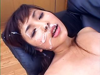 Naughty Japanese milf gets well fucked in a threesome