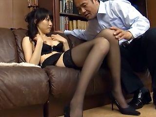 Airi Mikami  Asian office lady enjoys blowjob, gets cum facial