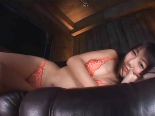 Arousing Asian milf Tsubomi in lingerie gets dirty on camera