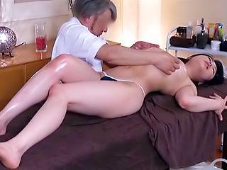 Hardcore fuck involving hot busty Asian milf babe