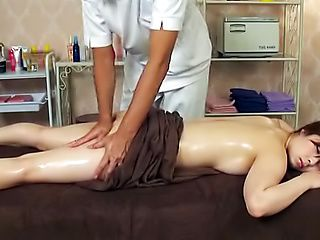 Lovely cutie enjoys an awesome massage.