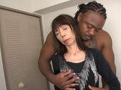 Massive black dude with big cock screws a lustful Japanese milf