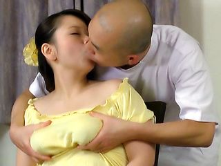 Busty mature Juna Ushigome gets tits squeezed and pussy pounded hard