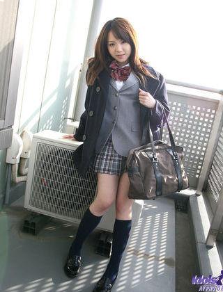 Namie Hot Horny Asian babe Plays School girl For Photos
