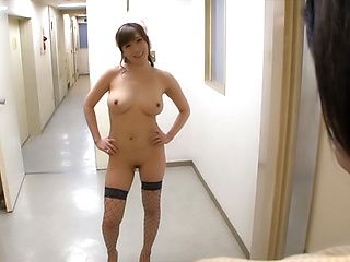 Gorgeous nurse Chino Azumi desires to please dick