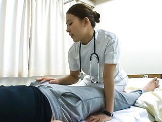 Wild Nurse moans as she is nailed hard