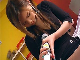 Erika Kurisu mind blowing toy porn caught on cam