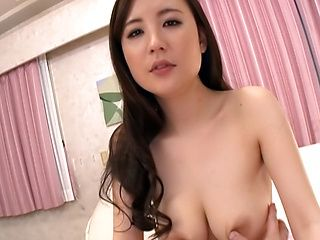 Kaori Saejima Asian doll enjoys hardcore sex in this pov with tit fuck