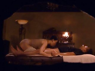 Skinny Japan milf fucked during massage session