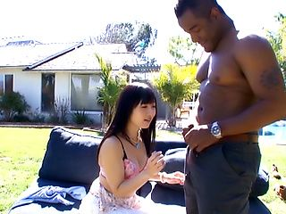 Sweet outdoor blowjob with Hibiki Ohtsuki