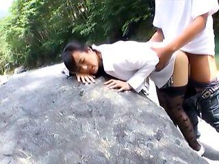 Hot milf Ririko Hibiki enjoys a rear bonk