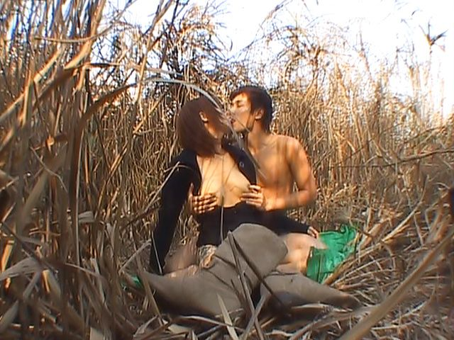 Great fuck in nature with Asian babe Akane Mochida