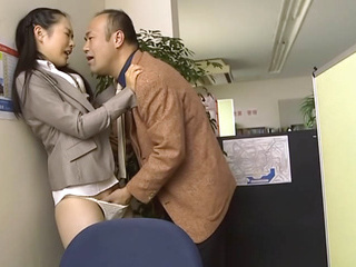 Nao Ogawa naughty Asian milf in an office suit gets fisted