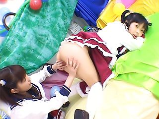 Naughty Japanese teens in hardcore fuck foursome