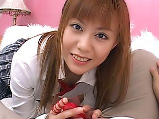 Hot teen gal Hina Aizawa likes to blow and to ride a guy