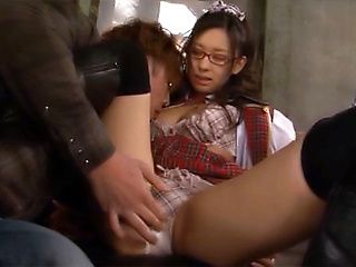 Alluring Tokyo schoolgirl spreads legs for fingering and fucking