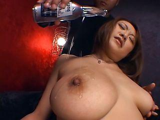 Betty Lin: sweet Asian milf with big tits sucks cock