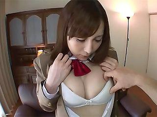 Asian schoolgirl Ayu enjoys plenty of pussy pounding