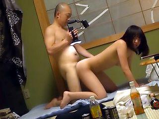 Sweet teen enjoys senior cock in her warm Asian vagina