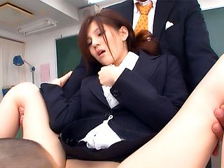 Ameri Ichinose naughty Asian teacher gives lessons in sex