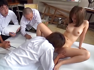 Seductive teacher Kirishima Rino has wet cunt pounded