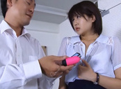 Saya Tachibana lusty Asian teacher gets vibrator upskirt