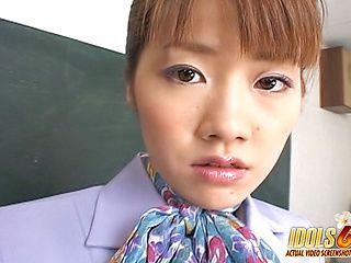 Yu Aizawa She Tongues Cock Asian babe Is A Cum Addicted Cocksucker
