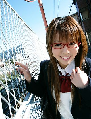 Yume Kimino Enjoys Posing At The Pier In Her School Uniform