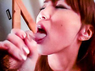 Uta Komori, horny Asian nurse gets pantyhose ripped