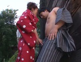 Horny Rin Sakuragi getting nailed in rough outdoor sex picture 11