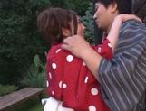 Horny Rin Sakuragi getting nailed in rough outdoor sex