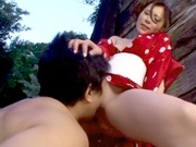 Horny Rin Sakuragi getting nailed in rough outdoor sexasian pussy, asian ass}