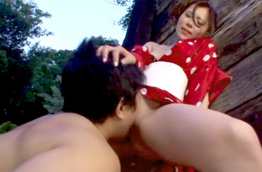 Horny Rin Sakuragi getting nailed in rough outdoor sex