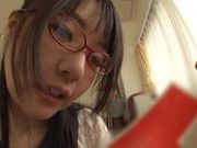 Sexy chick Tsubomi gives amazing blowjob and amateur action