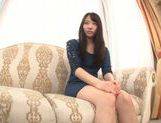 Young Japanese girl Misaki Honda enjoys pussy insertion picture 1