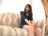 Young Japanese girl Misaki Honda enjoys pussy insertion picture 7