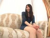 Young Japanese girl Misaki Honda enjoys pussy insertion picture 9