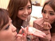 Naughty babes are sharing one massive dickjapanese sex, young asian}