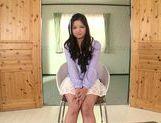 Fascinating long-haired model Kokomi Suzuki gives head