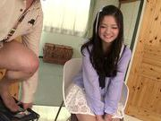 Fascinating long-haired model Kokomi Suzuki gives head