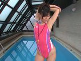 Cock sucking with Tsukasa Aoi by the pool picture 4